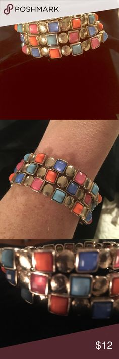 Gold and colorful stone wrap bracelet I love this bracelet❣️it's so cute and so versatile! Such an easy way to add a little color to any outfit! Jewelry Bracelets
