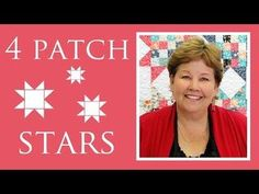Four Patch Stars | Missouri Star Quilt Company - YouTube | Bloglovin'