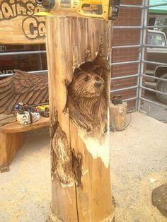 Ron Eye Wood Artist-Bear