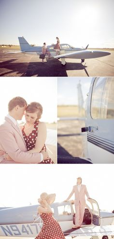 Madison Airplane Engagement Session