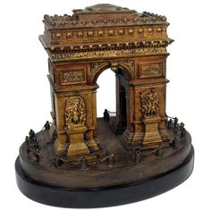 Spectacular rare and unusual bronze Arc d'Triumph. Most probably an unsigned Tiffany Studios piece made for the Grand Tour.1880
