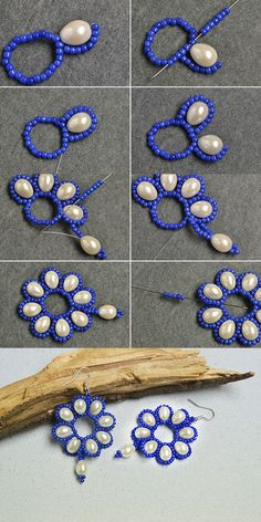 Like the flower pearl earrings?More details will be shared byBeaded beads tutorials and patterns, beaded jewelry patterns, wzory bizuterii koralikowej, bizuteria z koralikow - wzory i tutoriale - SalvabraniFree pattern for beaded necklace rosana beads mag Bead Jewellery, Seed Bead Jewelry, Wire Jewelry, Jewelry Crafts, Handmade Jewelry, Seed Beads, Jewelry Ideas, Skull Jewelry, Jewellery Shops