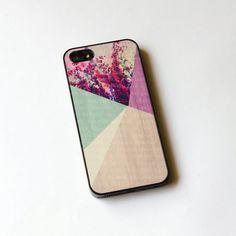 Floral geometrisch auf Holz iPhone Case iPhone 5 Case von IdeaCase,