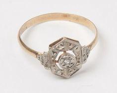 bague de fiançailles eclat de diamant et or, c1900
