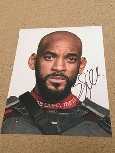 Will Smith - Suicide Squad signed 8 x 10 photo autograph