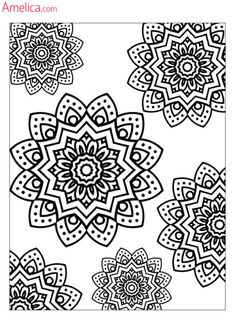 Anti Stress Coloring Pages Colouring