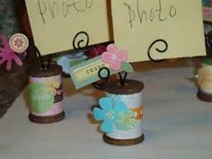 decorated wooden thread spools holders - Yahoo Image Search Results