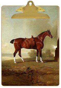 CB8603-Chestnut Hunter Horse Clipboard #Derby #DerbyDay #KentuckyDerby