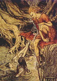 L is for Loki Arthur Rackham