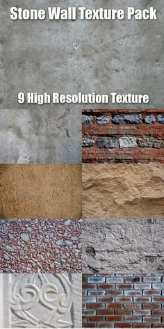 Stone and Concrete Texture Pack  #GraphicRiver         9 Pieces High Res Texture Pack for your 3d project or Backgrounds (concrete,stone ,brick,marble)     Created: 28December11 GraphicsFilesIncluded: JPGImage Layered: No MinimumAdobeCSVersion: CS PixelDimensions: 3872x2592 Tileable: No Tags: architecture #art #backdrop #background #bathroom #brick #bright #brown #build #burlap #canvas #ceramic #class #concrete #construction #decorative #marble #ornament #stone #structure #surface #texture…