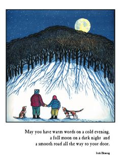 Holiday greeting card by Mary Azarian - made from a woodcut Christmas Card Wishes, Holiday Cards, Vermont Winter, Art Room Posters, Woodcut Art, Losing My Religion, I Love Winter, Winter Painting, Irish Blessing