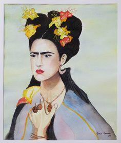 Aquarela 'Retratos de Frida'