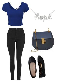 """hope"" by vbstyle88 ❤ liked on Polyvore featuring Chloé, Topshop and Aéropostale"