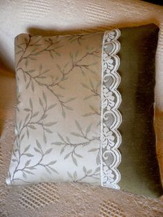 Brocade and Lace ... Throw Pillow ... Home Decor by AlinasArt, $30.00
