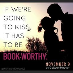 November 9 by Colleen Hoover  http://www.amazon.com/gp/product/B00UDCI1S8/