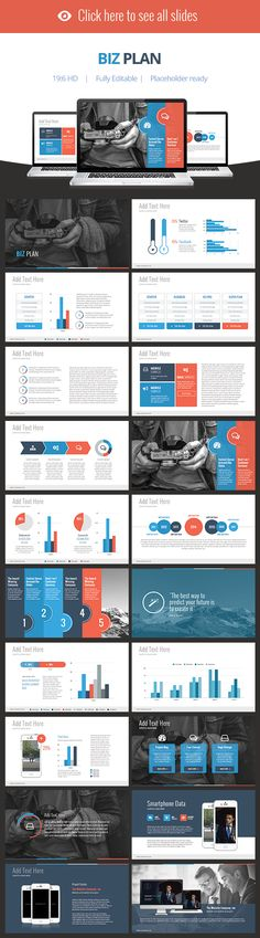 Biz Plan - Keynote Template by Slidehack on Creative Market