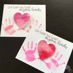 Valentine's Day Handprint Art for Early Learners (Christi Fultz) Preschool Valentine Crafts, Kinder Valentines, Valentines Day Activities, Valentines For Kids, Homemade Valentines, Valentine's Day Crafts For Kids, Mothers Day Crafts, Crafts Toddlers, Handprint Art