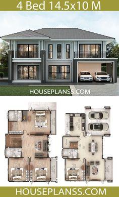 House Plans Idea 14 with 4 bedrooms - House Plans Sam Sims House Plans, House Layout Plans, House Plans One Story, Barn House Plans, Craftsman House Plans, Dream House Plans, House Layouts, House Floor Plans, 2 Storey House Design
