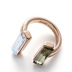 e5e5f3730 for JM by JULIEN MACDONALD. SS15. Crystal Geometric Open Ring in Rose Gold.
