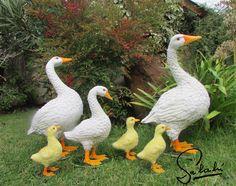 Familia de gansos.