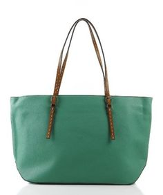 Designer Inspired Floris Tote/Handbag - Green: $39.99
