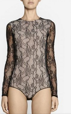 Camilla and Marc Compound Lace Bodysuit Black Evening Occasion Size 10 | eBay