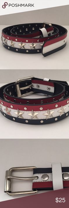 Stars and Stripes Americana Belt Stars and Stripes Americana Belt.  Raised Stars Studs on Striped Design.  Size 36 Accessories Belts