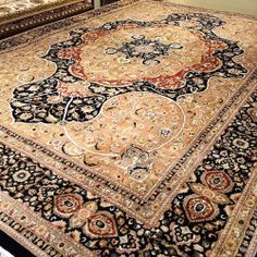 A Stunner! Unusual version of Tabriz style design 9x12 rug … #loveofrugs #interiordesign #agourahills #losangeles #portland #lasvegas #design #decorating #homedecor #handknotted #remodeling #rugs