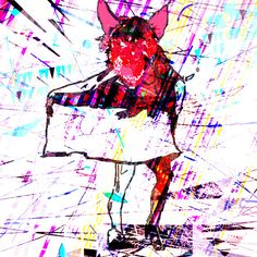 Matador Monster Digital Art Print Colorful by BeepArtsAndCrafts