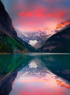 Banff National Park, Canada Natural Beauty Magnified as in the Mirror of a mighty Lake! Do you see HIM He is Here TOO!