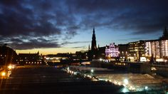 Twilight in Edinburgh. Must return from whence I came.