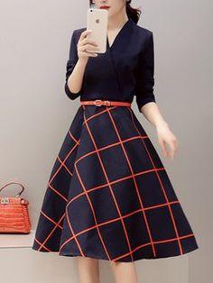 Shirt Collar Midi Dress Daily Long Sleeve Casual Dress