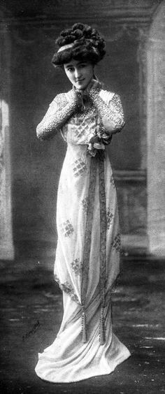 """""""Les Modes"""" 1908. That hair is gonna topple her over any second now."""