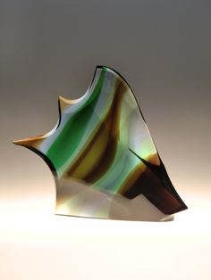 Bohemian Czech Exbor Art Glass Fish by Rozinek & Honzik by VintageRetroEu on Etsy