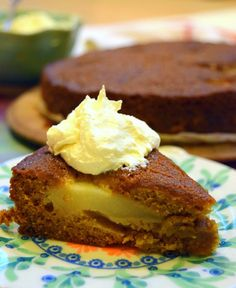 Pear and ginger pudding cake – Colonial Cravings