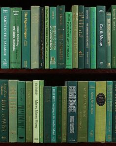 Go Green (Books by Color). With vivid green bindings, these modern cloth hardbacks range from celadon to hunter green and are in very good to new condition. These books are perfect for interior decorating, model/vacation h Dark Green Aesthetic, Rainbow Aesthetic, Aesthetic Colors, Aesthetic Collage, Aesthetic Pictures, Aesthetic Drawings, Aesthetic Clothes, Photo Wall Collage, Picture Wall