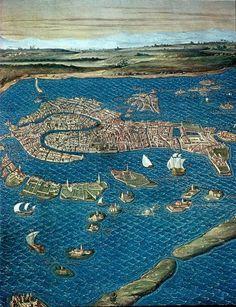 Ignazio Danti, Renaissance Map of Venice Vintage Maps, Antique Maps, Carta Magna, Venice Map, Map Globe, Old Maps, City Maps, Rome, Historical Maps