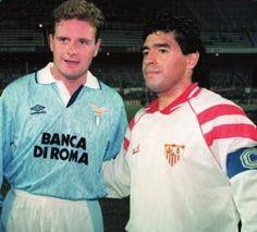 Paul Gascoigne and Diego Maradona