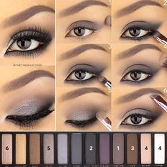 "Eye Makeup - ""A Saturday evening tutorial for this intense eye using the Naked Smoky palette. This placement of the shadow helps to create an…"" - Ten Different Ways of Eye Makeup Eye Makeup Tips, Smokey Eye Makeup, Skin Makeup, Eyeshadow Makeup, Makeup Ideas, Summer Eyeshadow, Makeup Tutorials, Eyeshadow Tutorials, Eye Brows"