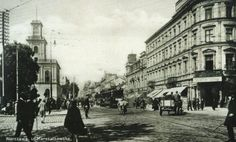 Marszałkowska i plac przed Dworcem Wiedeńskim
