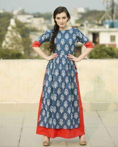 Indigo Double Layered Dress