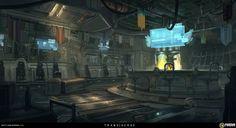 Bar Interior by Sketchshido on DeviantArt