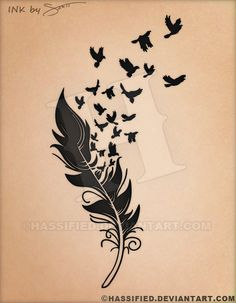 Birds of a Feather Tattoo by hassified.deviantart.com on @DeviantArt #tattoo #flash #custom