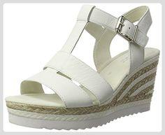 Gabor Shoes Damen Fashion Plateau, Weiß (Weiss (Weiss/Sand) 21), 39 EU - Sandalen für frauen (*Partner-Link)