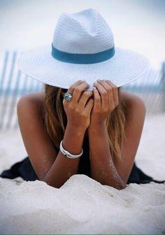 Verão,praia, mar, chapéu, fashion, biquini,