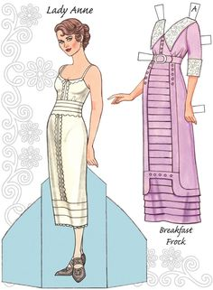 English Country Paper Dolls DOWNTON ABBEY Costume and Paper Doll 2 SAMPLES  Welcome to Dover Publications 5 of 6