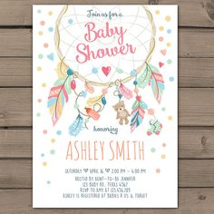 ♥ A perfect way to invite your guests to your next Baby shower! You will receive READY-TO-PRINT DIGITAL files that you can print at home or in any local or online print shop! -------------------------------------------------------- HOW DO I ORDER? -------------------------------------------------------- ♥ All you have to do is purchase this item and leave in the message to seller box: - Name - Time and date - Location - RSVP info - Registry info - Any other wording you would like to change…