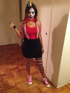 Easy and unique sad harlequin costume pinterest harlequin diy killer klown costume just bought a few accessories halloween 2014 solutioingenieria Image collections