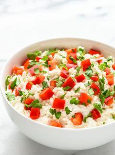 Creamy Garlic Feta Dip. An easy appetizer recipe that's ready in 10 minutes!