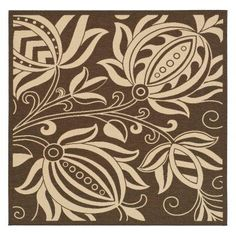 Safavieh Courtyard CY2961 Area Rug Chocolate/Natural - CY2961-3409-7SQ